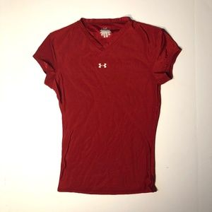 Under Armour women's short sleeve tshirt red S
